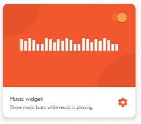 Navbar Apps 의 Music 위젯