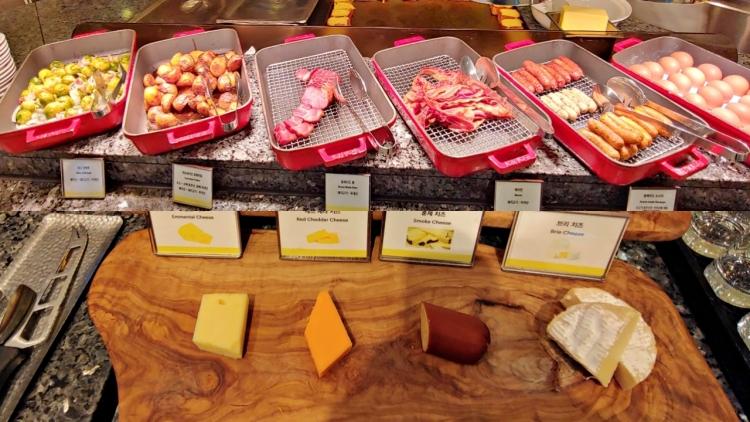 부산웨스틴조선호텔조식-치즈,소시지