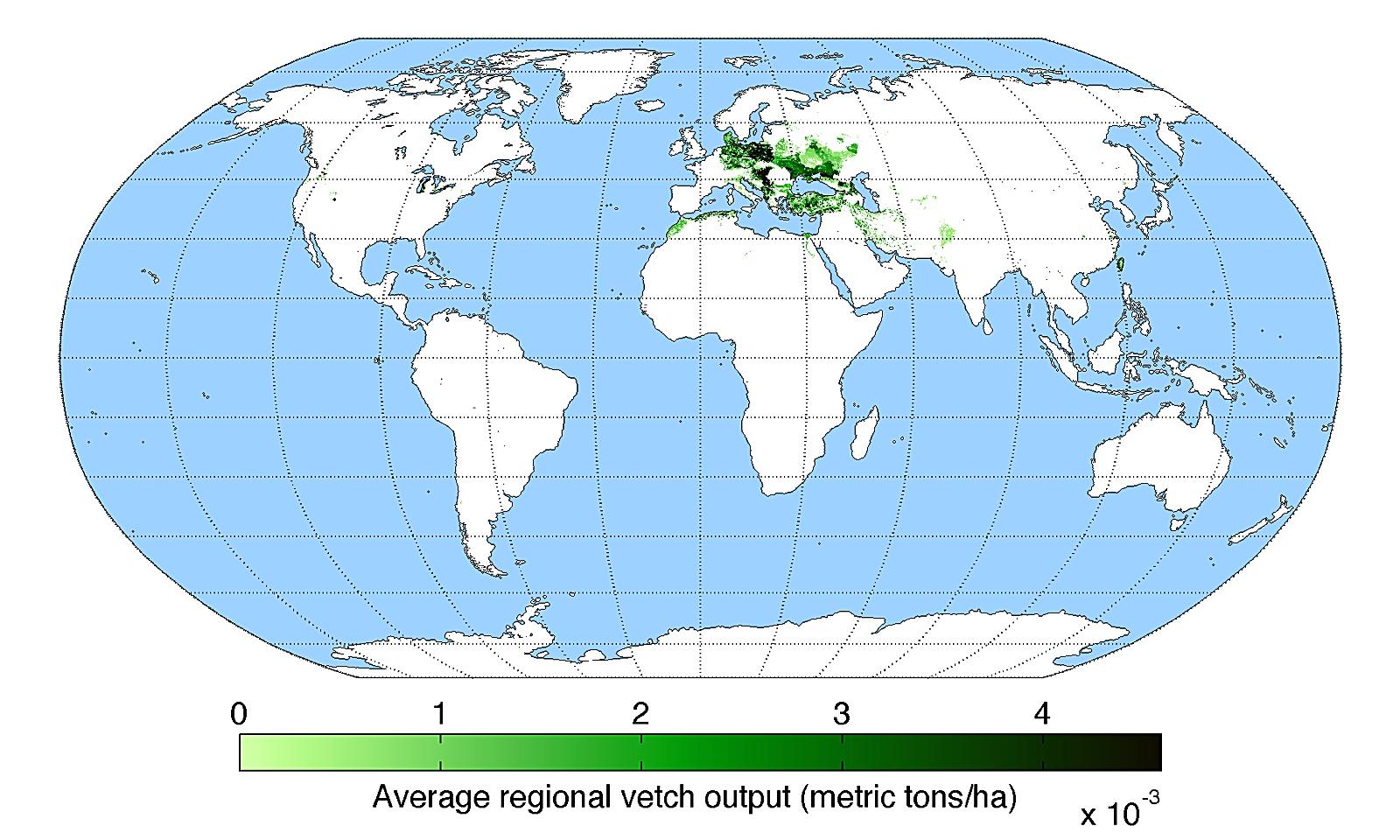 세계 타트체리 생산량 분포