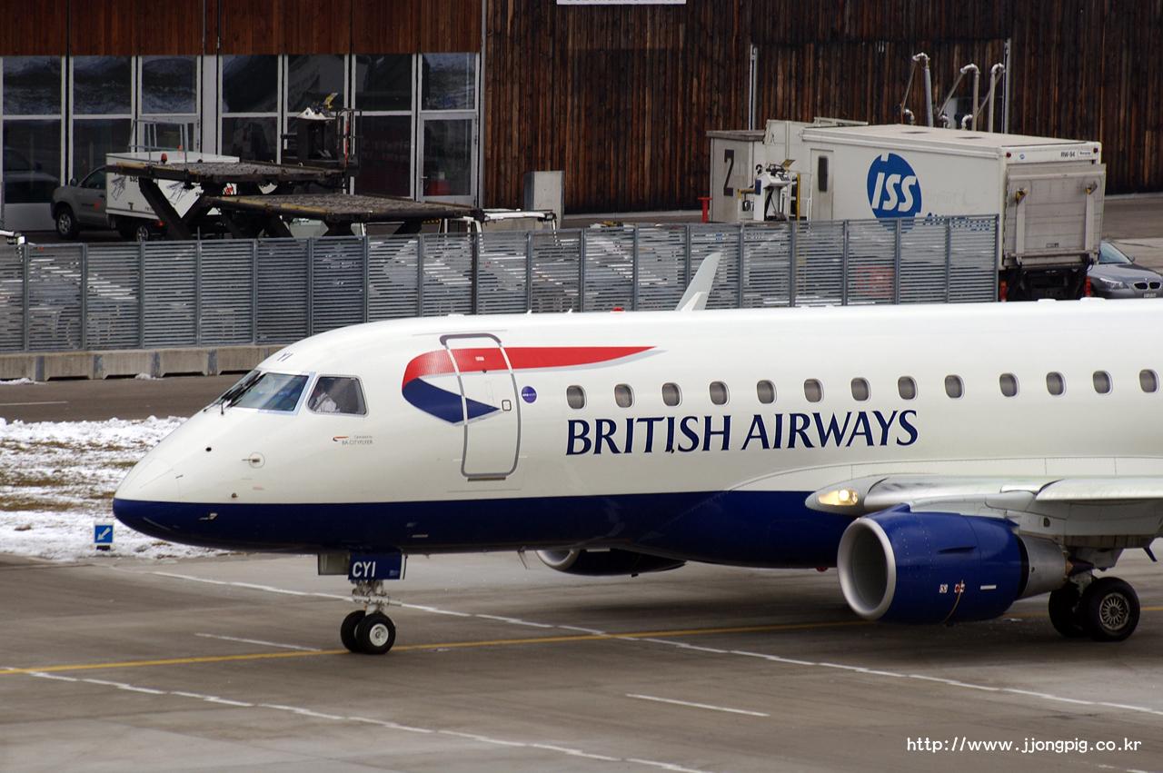 British Airways G-LCYI Embraer E175STD