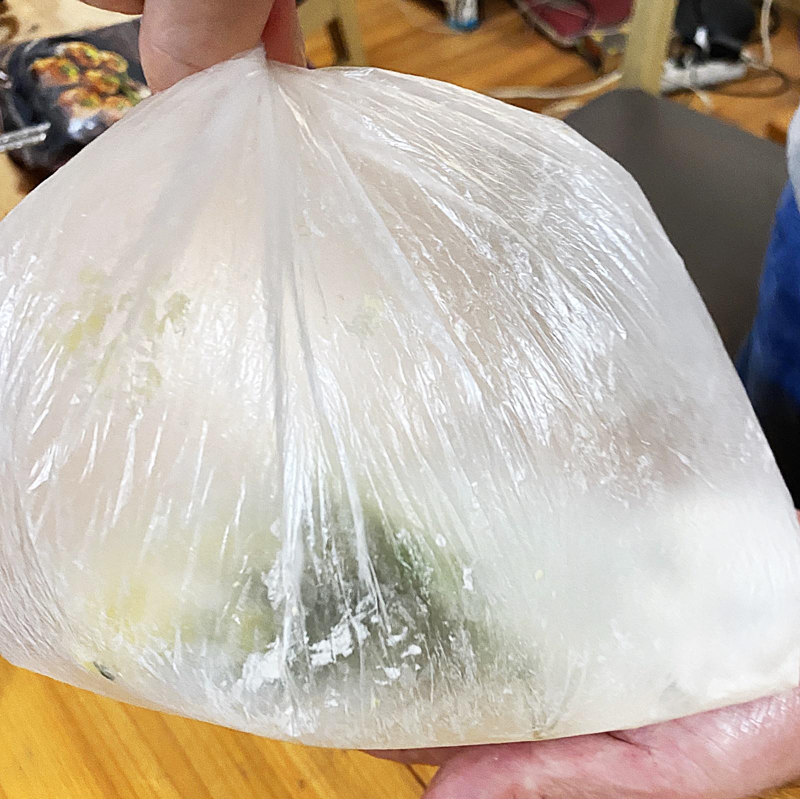 풍선 모양 밀가루 비닐봉지