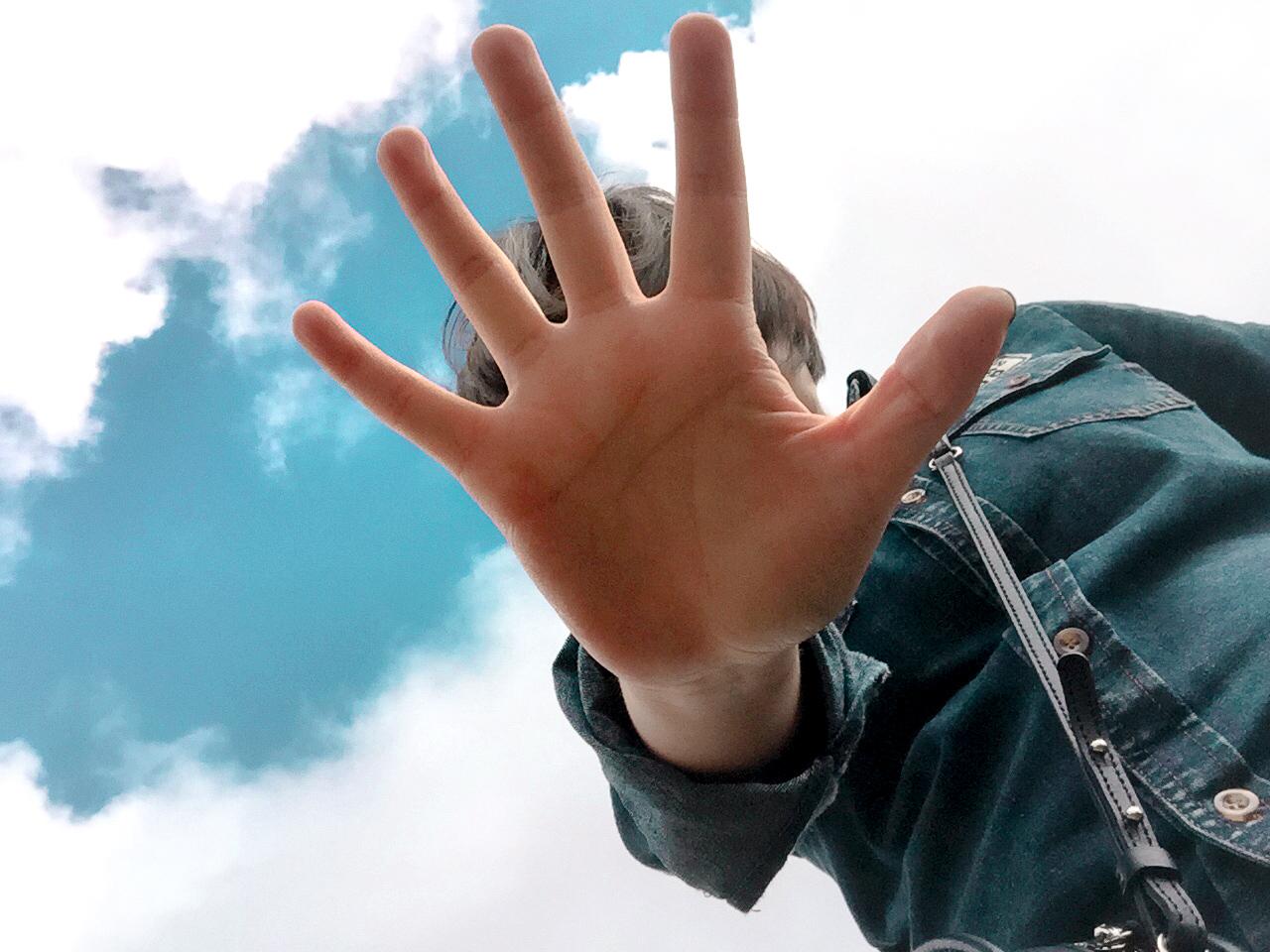 대관령 양 떼 목장 하늘 구름