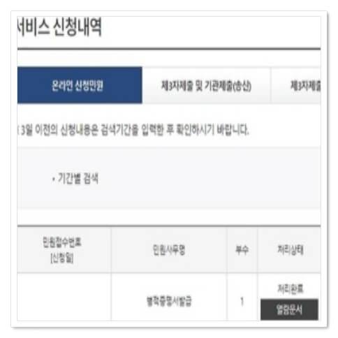 병적증명서 온라인발급 pdf