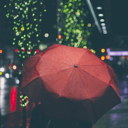 장마속-우산
