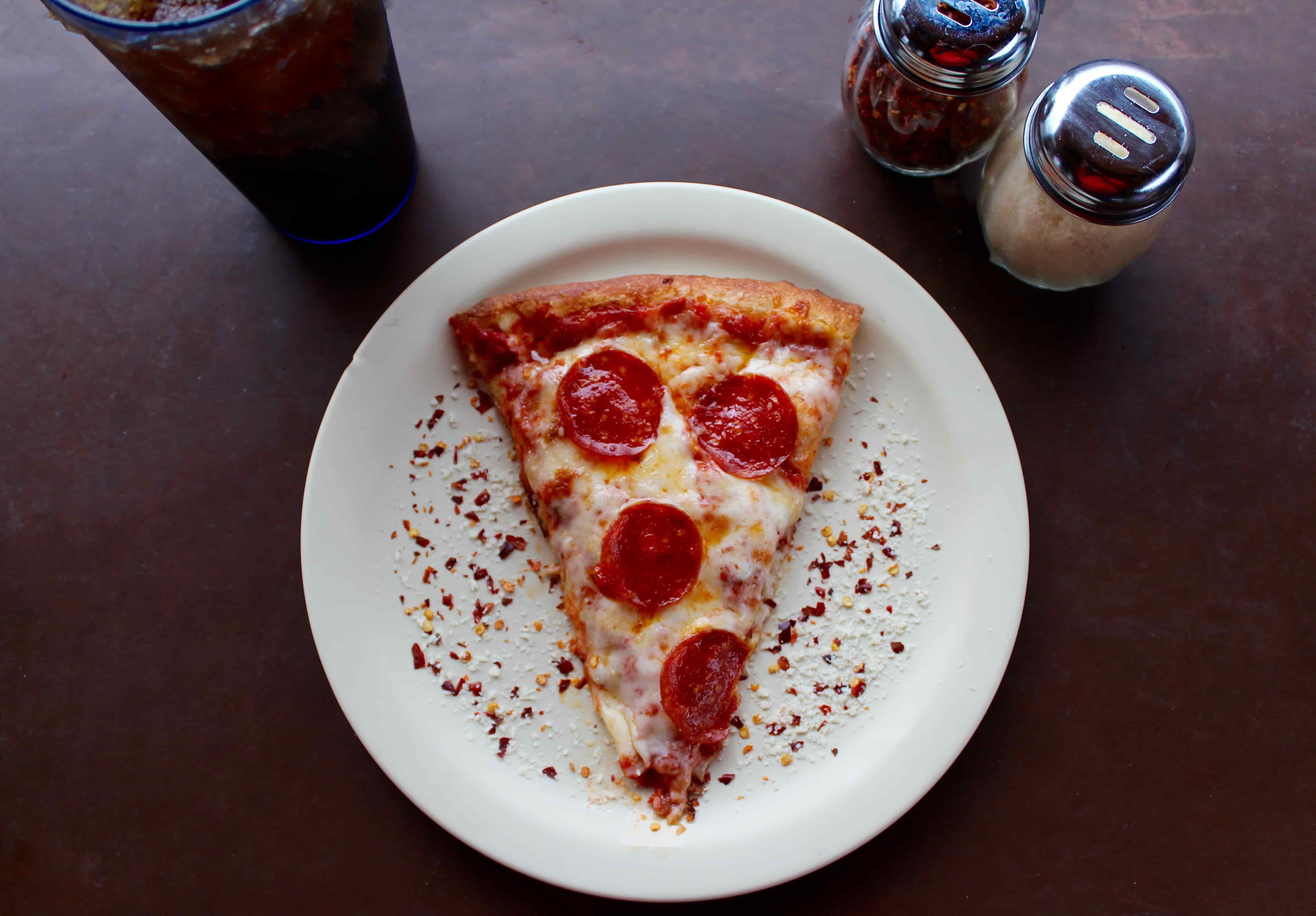 남은 조각 피자