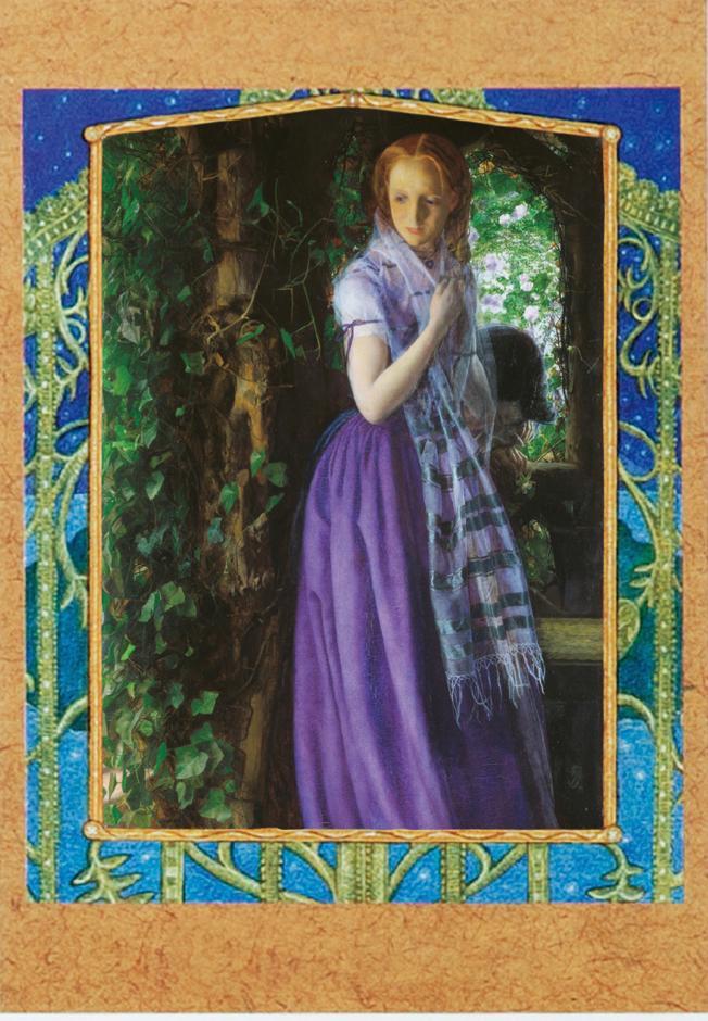 'April Love', Arthur Hughes, oil on canvas, 89×49.5cm, 1856 부분