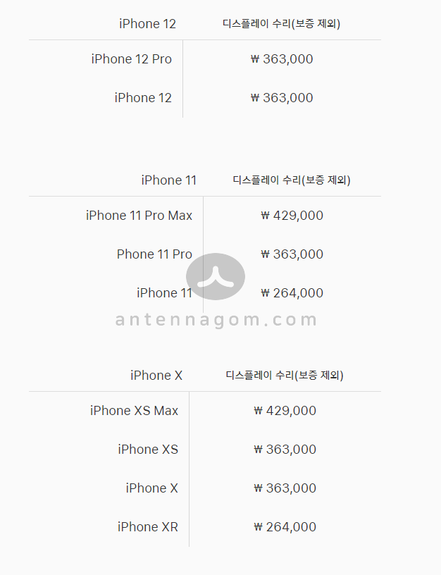 아이폰 액정수리 리퍼비용 2
