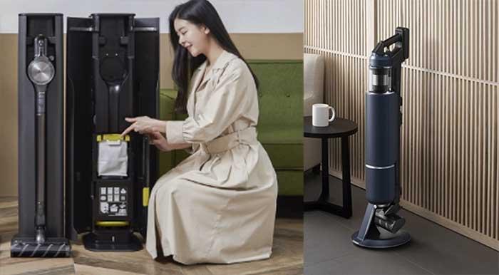 (좌) LG 올인원타워 청소기 (우) 삼성 비스포크 제트 청소기