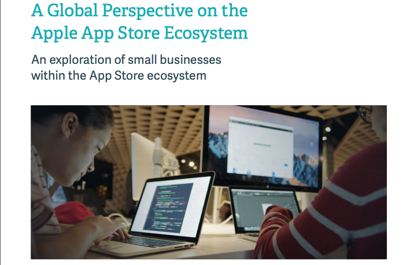 애플 앱 스토어 90%가 소규모 개발자 앱...애플, '애플 앱스토어 생태계' 보고서 발표