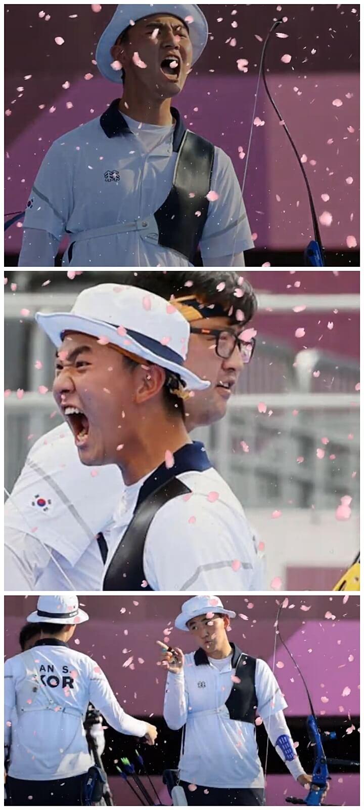 양궁선수-김제덕-파이팅-도쿄올림픽
