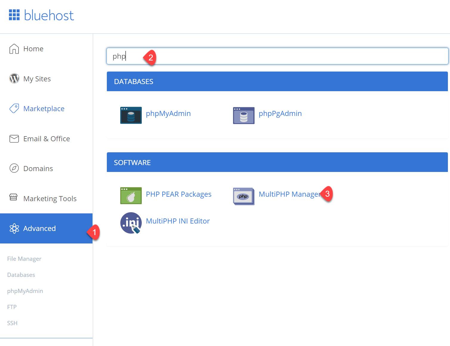 블루호스트 PHP 8.0 적용하기(Bluehost 공유호스팅 및 VPS)