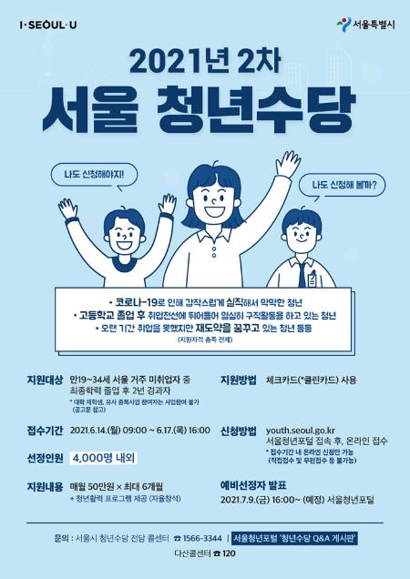 서울시 청년수당 2차모집
