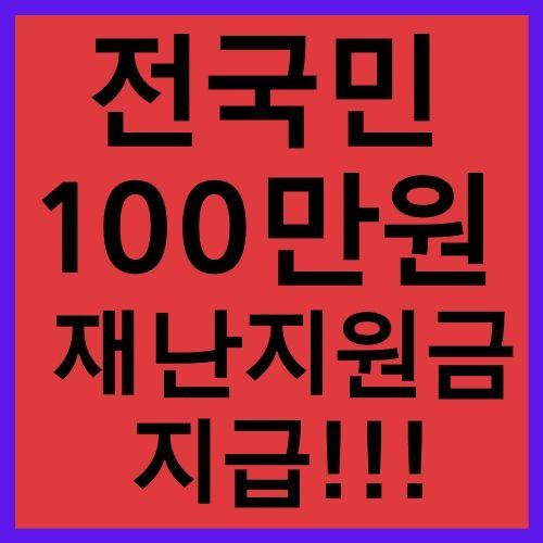 전국민 100만원 지급 확정 재난지원금