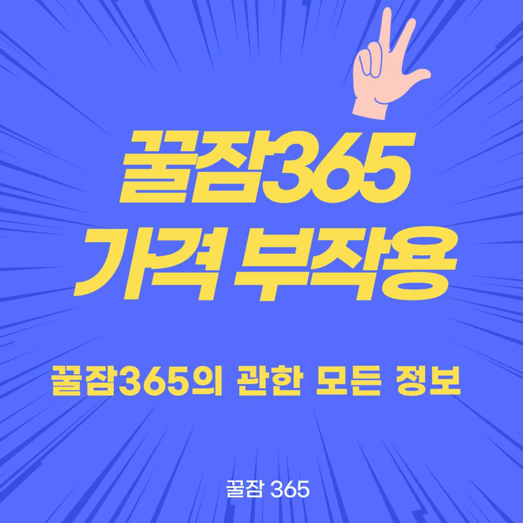 꿀잠365-가격