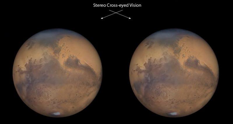 지구에서 10일 걸려서 촬영한 고화질의 화성 사진