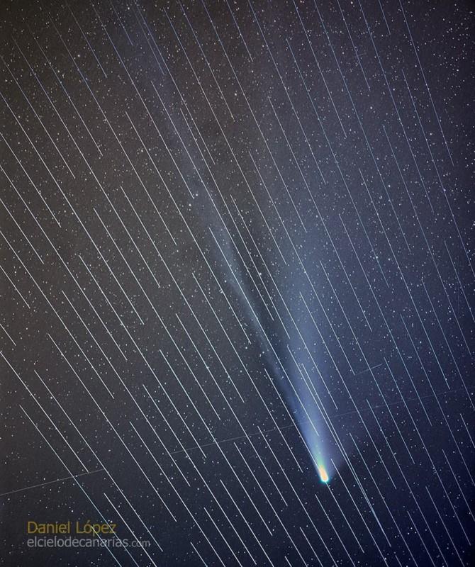 천체 사진가들의 재앙이 된 스페이스X의 스타링크 위성