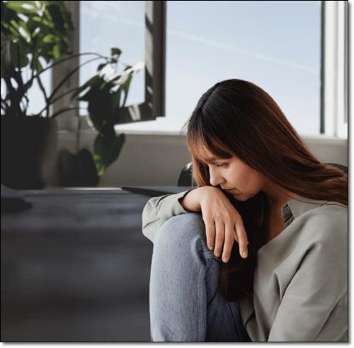 우울증 여성