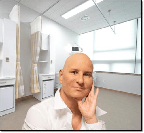 암 투병 남성