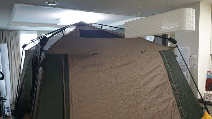 텐트-설치-모습