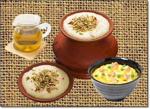 쌀 요리 및 미강유
