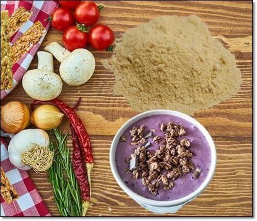 유청단백질과 채소