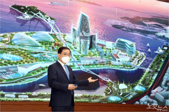 마산 인공섬(해양신도시)을 에너지자립섬으로
