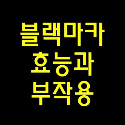 블랙마카효능