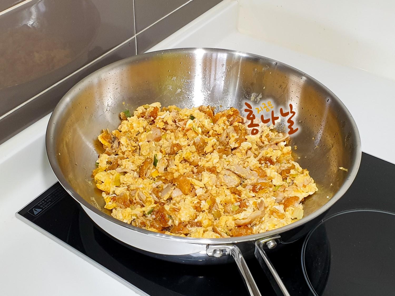 [치킨달걀볶음밥] 달걀 스크램블 하기