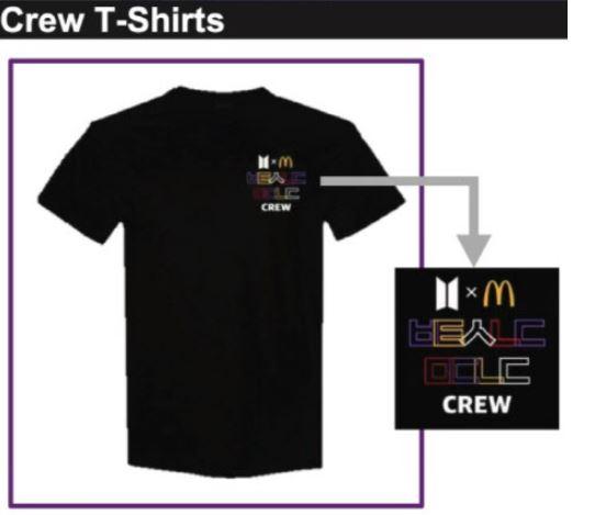 맥도날드 BTS세트 크루 티셔츠