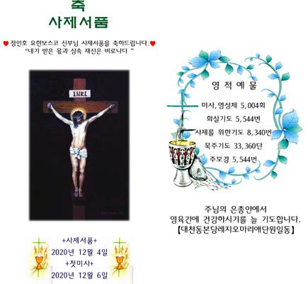 대천동본당레지오마리애단원일동 사제서품 초안