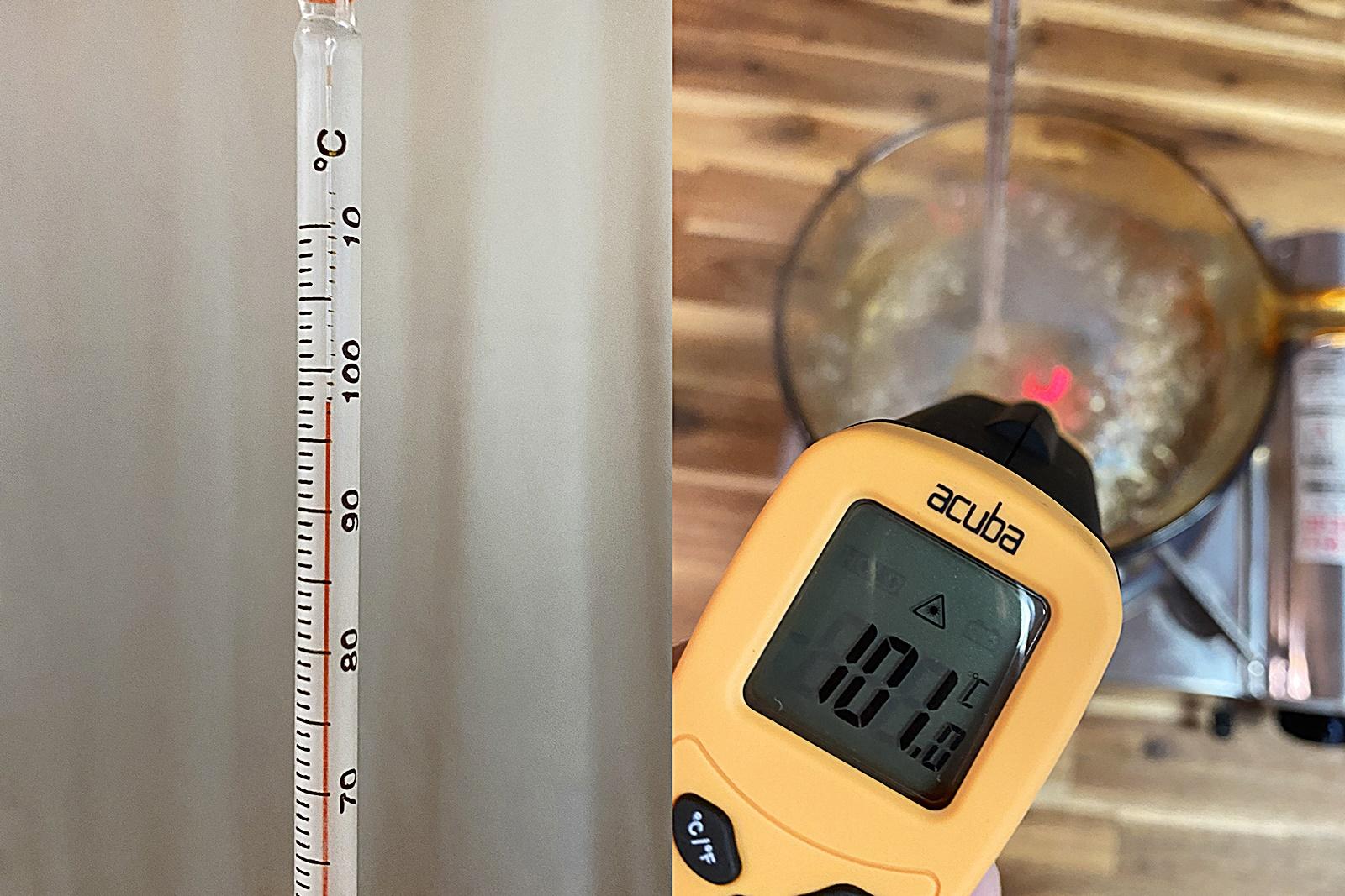 유리 냄비 물 끓이며 온도계 비교 실험 4
