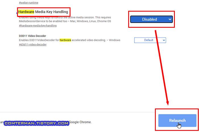 크롬 브라우저 Hardware Media Key Handling