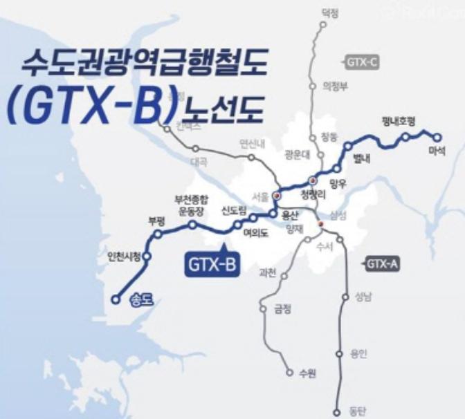 GTX B 노선도