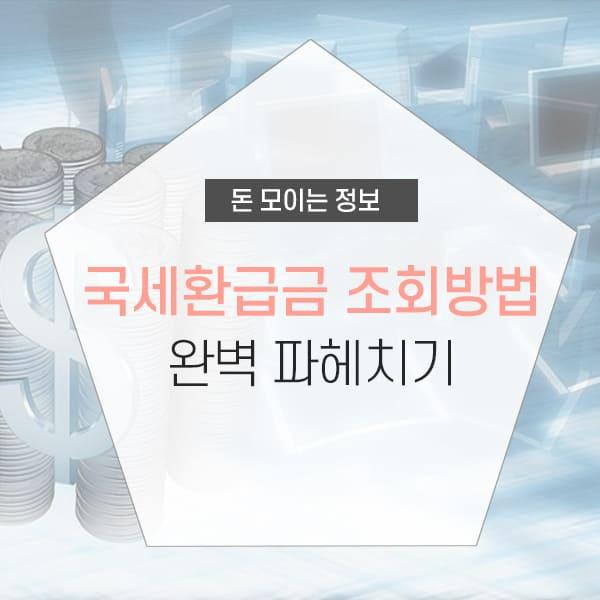 국세환급금 조회 개념설명 및 조회방법 소개