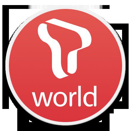 SKT T world 로고