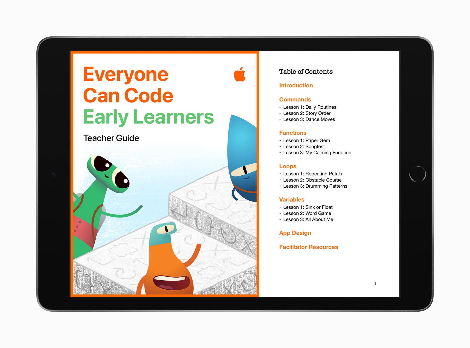모든 사람을 위한 코딩 가이드...애플, 새로운 코딩 및 포괄적인 디자인 리소스 공개