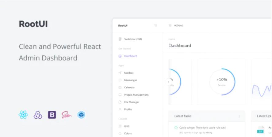 React 어드민 대시보드 RootUI 무료 다운로드