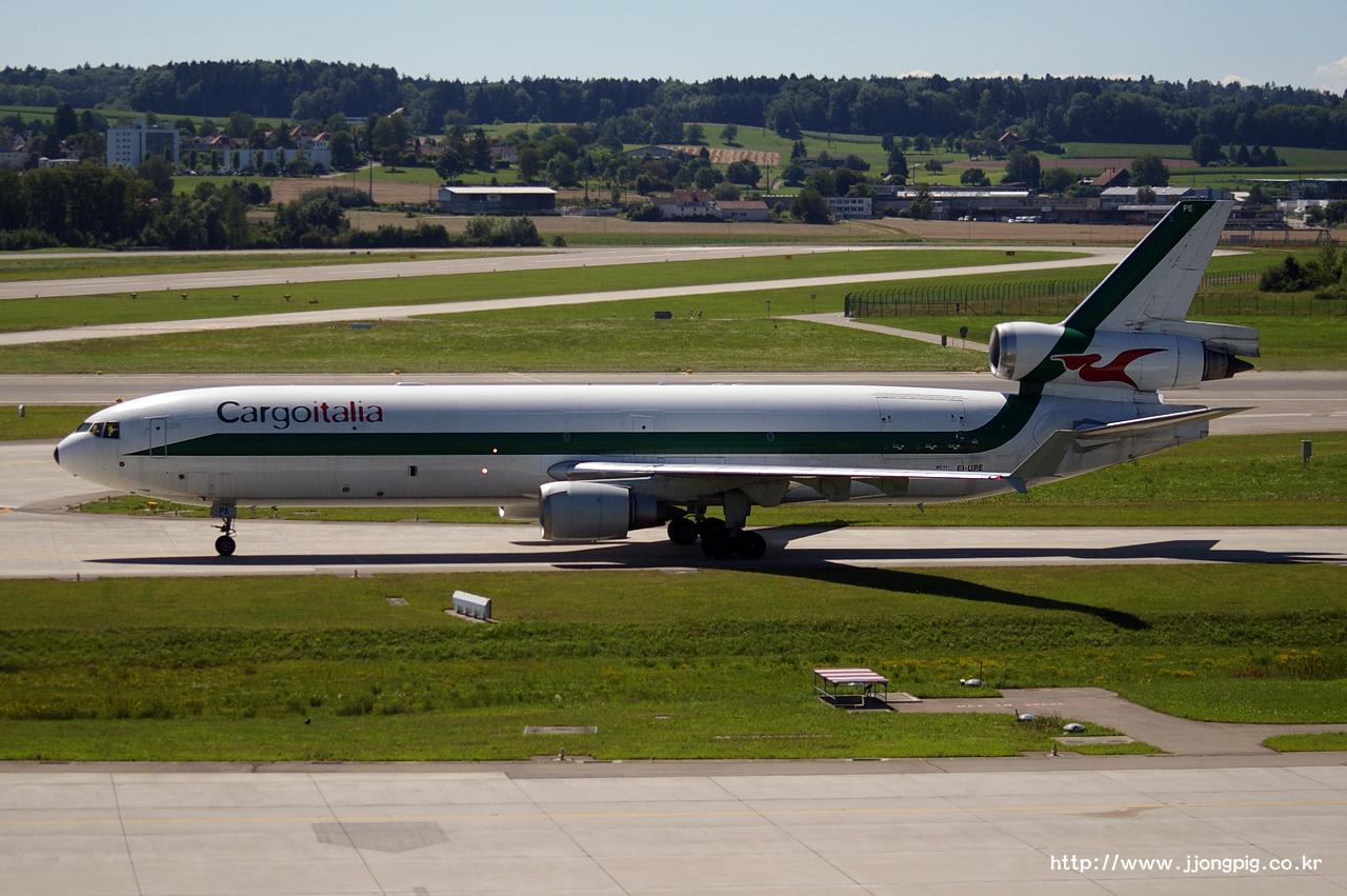 Cargoitalia 2G MRR EI-UPE MD-11 McDonnell Douglas MD-11F MD11 취리히 - 클로텐 Zurich - Kloten ZRH LSZH