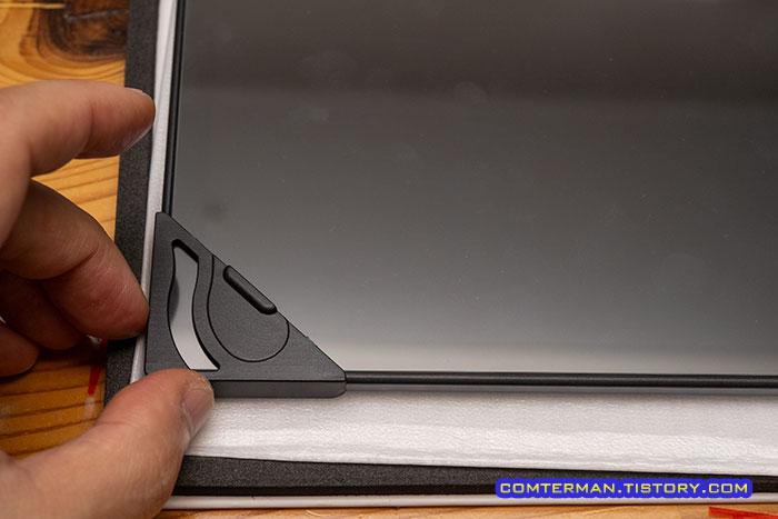 태블릿 강화유리 부착틀 사용법