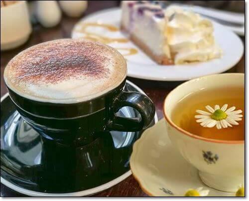 커피와 카모마일티