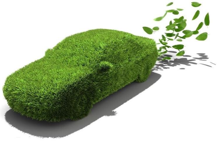 잔디로둘러진자동차