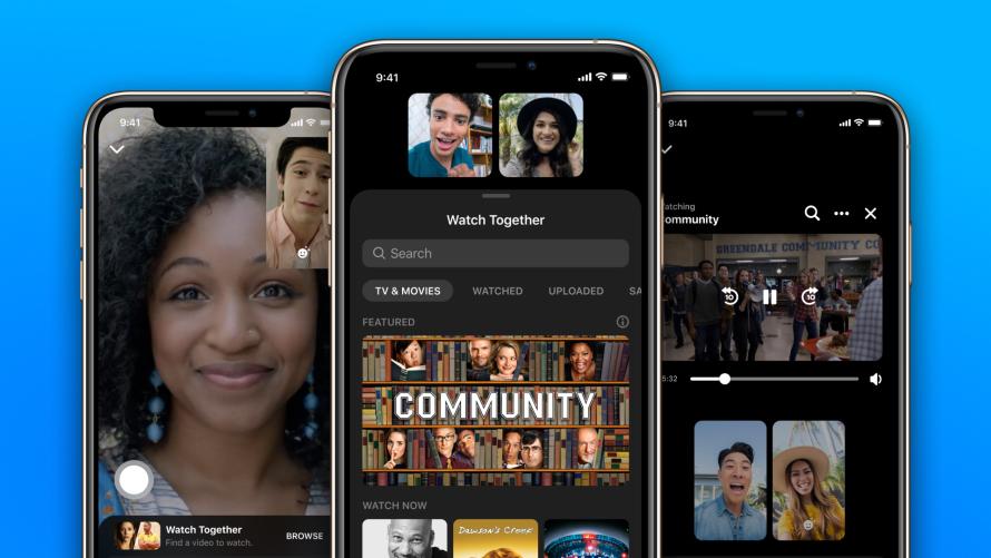 언택트로 동영상을 즐기는 새로운 방법...페이스북 메신저, '함께 보기' 기능 추가