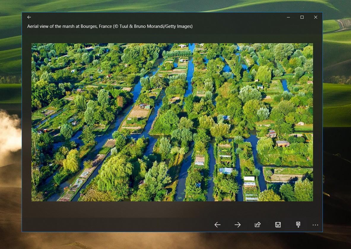 윈도우 배경화면 Bing 이미지로 설정하기