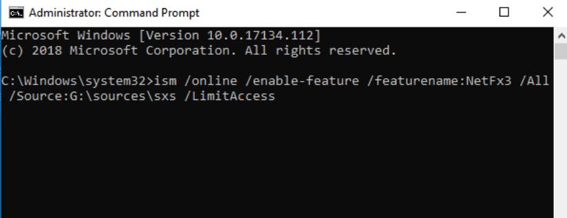 .NET Framework 3.5 0x800F081F 오류 해결방법3