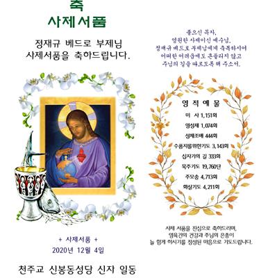신봉동성당 사제서품 초안
