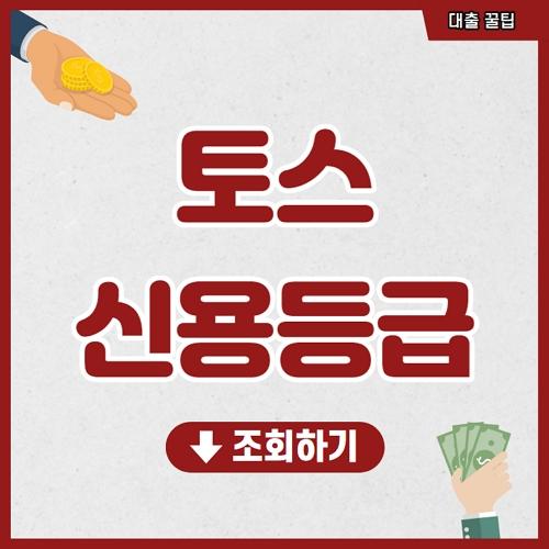 토스 신용등급 조회