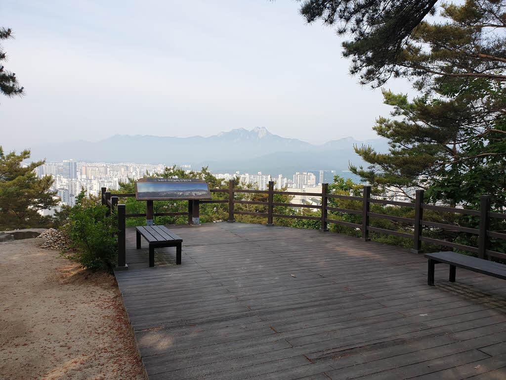 서울둘레길 1코스 수락산 구간의 전망대