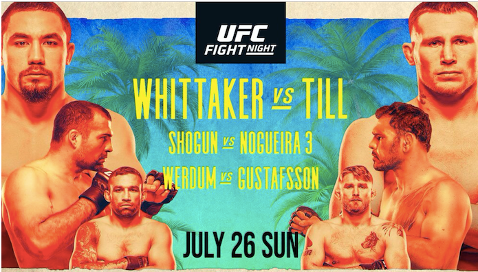 UFC 파이트아일랜드3 휘태커 VS 틸 메인카드 감상후기 - 최상의 시나리오로 UFC를 떠나는 파브리시우 베우둠