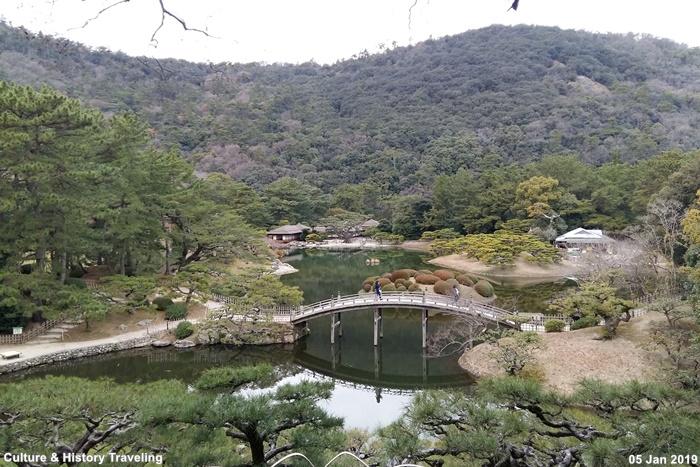일본 가가와현 리쓰린공원(栗林公園)