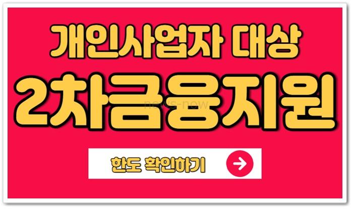 신한은행 소상공인 2차 금융지원대출